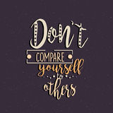 Don que t se compara a otros cita la motivación libre illustration