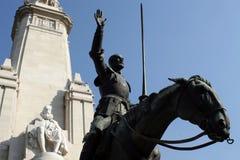 Don Quichote und Cervantes Lizenzfreies Stockbild