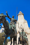 Don Quichote und Sancho Panza Statue - Madrid Spanien Stockbild