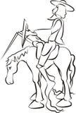 Don Quijote ilustración del vector