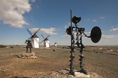 Don Quijote e Sancho fotografia stock libera da diritti