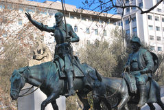 Don Quijote and Sancho Panza Royalty Free Stock Images