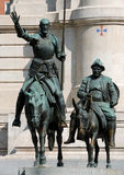 Don Quijote and Sancho Panza stock photography