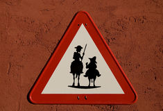 Don Quijote and Sancho Panza stock illustration