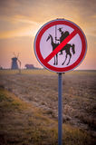Don Quijote. Sign and windmill Royalty Free Stock Image