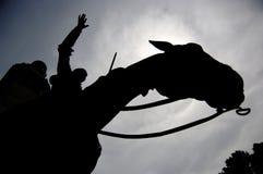 Don Quijote y Sancho Panza in Plaza de España Royalty Free Stock Images