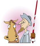 Don Quisciotte e cavallo Immagini Stock Libere da Diritti
