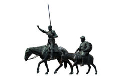 Don Quisciotte e Sancho Panza Fotografie Stock
