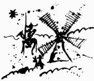 Don Quixote royalty illustrazione gratis