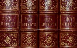 Don Quixote Antique Book Series a colori fotografia stock
