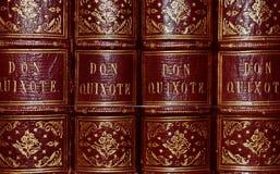 Don Quixote Antique Book Series in Colour stock photo