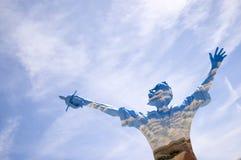 Don Quixote de la Mancha ha sfidato i mulini a vento immagine stock libera da diritti