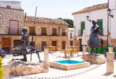 Don Quixote and Dulcinea in El Toboso Stock Photos