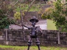 Don Quixote-Gießerei lizenzfreie stockbilder