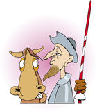 Don quixote and horse. Illustration of don quixote and his horse Royalty Free Stock Images