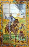 Don Quixote, mosaico fotografía de archivo libre de regalías