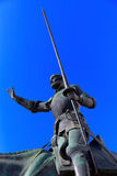 Don Quixote och Sancho Panza staty - Madrid Spanien Fotografering för Bildbyråer