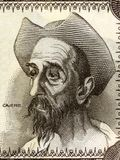 Don Quixote portrait. From Spanish money Royalty Free Stock Photography