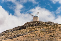 Don Quixote`s Windmill In Consuegra Spain Royalty Free Stock Photos