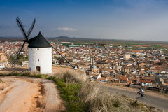 Don Quixote's Windmills, Consuegra, Castilla La Mancha, Spain Royalty Free Stock Photo