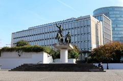 Don Quixote and Sancho Panza in Brussels Stock Photo