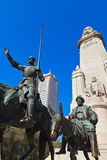 Don Quixote and Sancho Panza statue - Madrid Spain Royalty Free Stock Image