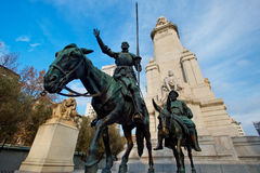 Don Quixote and Sancho Panza Stock Photography