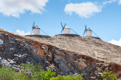 Don Quixotes Windmühlen in Consuegra Spanien Stockbilder