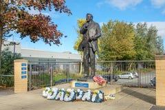 Don Revie bij Elland-Road, Leeds stock foto's