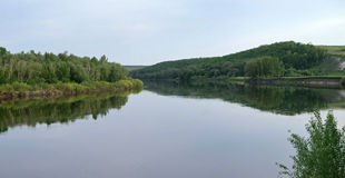 Don River i centrala Ryssland Royaltyfri Bild