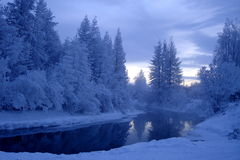 Don River in winter Royalty Free Stock Photos