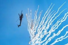 DON ROSJA, SIERPIEŃ, -, 2017: Mi-28 Havoc Obrazy Royalty Free