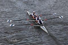 Don Rowing-rassen in het Hoofd van Charles Regatta-het Kampioenschap Fours van vrouwen stock afbeeldingen