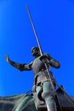 Don Sancho Panza i donkiszota statua - Madryt Hiszpania Obraz Stock