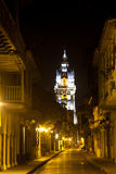 Don Sancho Street. In Cartagena de Indias Stock Image