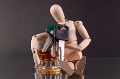 Don't Be a Dummy. ( Drinking and Driving Concept Royalty Free Stock Photography