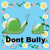 Don't bully snails Stock Images
