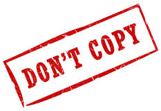Don't copy stamp Royalty Free Stock Photo