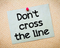 Don't cross the line Royalty Free Stock Photos