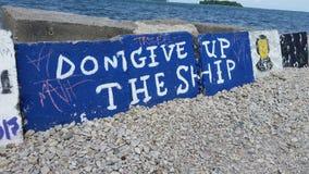 Don& x27; t daje up statkowi, przy Stawia w zatoce, Ohio Zdjęcie Stock