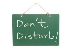 Don't disturb Royalty Free Stock Image