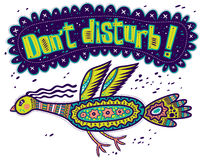 Don't disturb! Flying bird. Stock Images