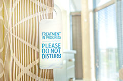 Don't disturb - treatment in progress custom designed sign at a Stock Images