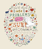 Don t dive into problems just surf on them vector illustration