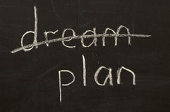 Don't dream, plan! Stock Images