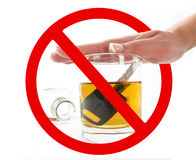 Dont drink when drive Royalty Free Stock Photography