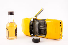 Don`t drink and drive. Car accident : Don`t drink and drive Stock Photography