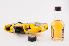 Don`t drink and drive. Car accident : Don`t drink and drive Stock Photos