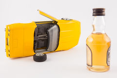 Don`t drink and drive. Car accident : Don`t drink and drive Royalty Free Stock Photo