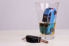 Don't drink and drive concept.  Responsibly and safety driving Royalty Free Stock Images